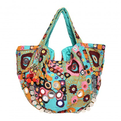 ANA BOHO BAG WITH MIRROR WORK AND COINS